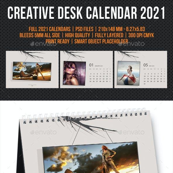 Creative Desk Calendar 2021 V26