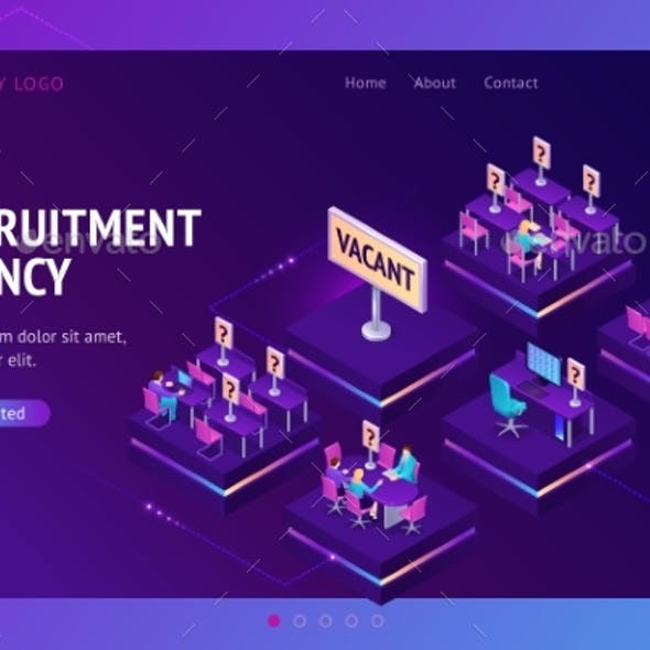 Vector Landing Page for Recruitment Agency