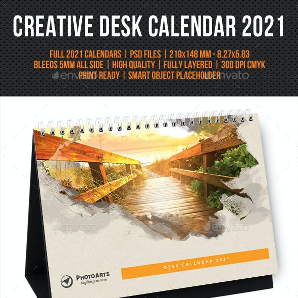 Creative Desk Calendar 2021 V23