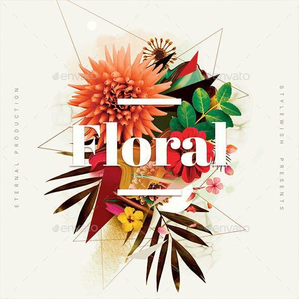Floral CD Cover Artwork
