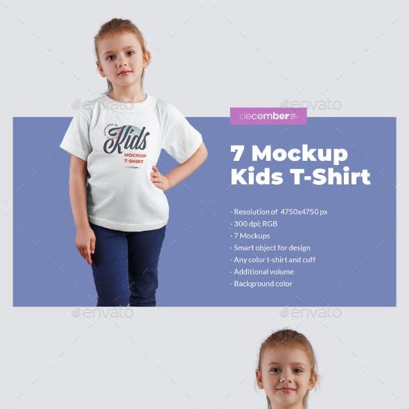 7 Kids T-Shirt Mockups