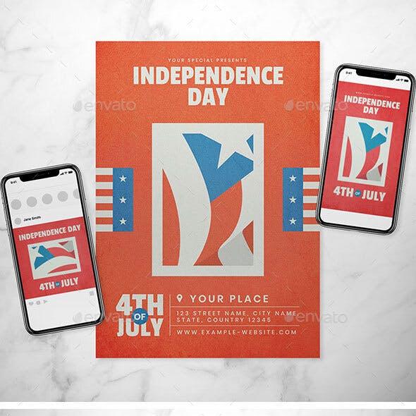 Independence Day Flyer Set