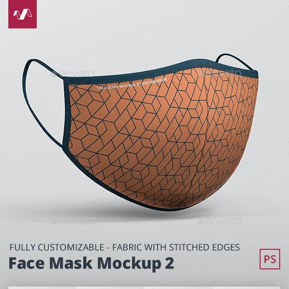 Face Mask Mockup Fabric Mask 2
