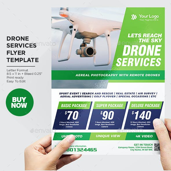 Drone Services Business Flyer