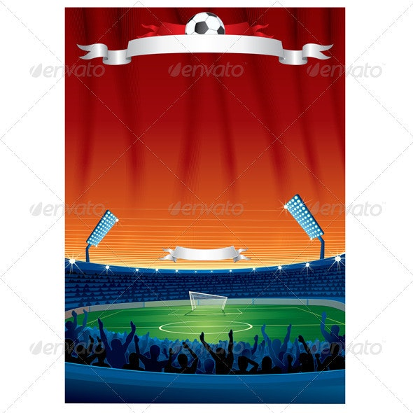 Vector Soccer Background Template - Sports/Activity Conceptual