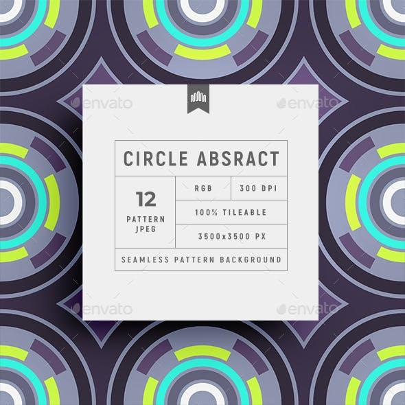 Circular Abstract Seamless Pattern