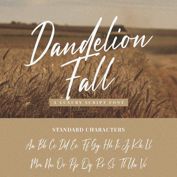 Dandelion Fall - script font