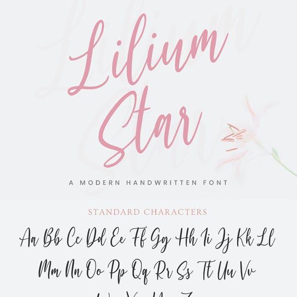 Lilium Star - handwritten font