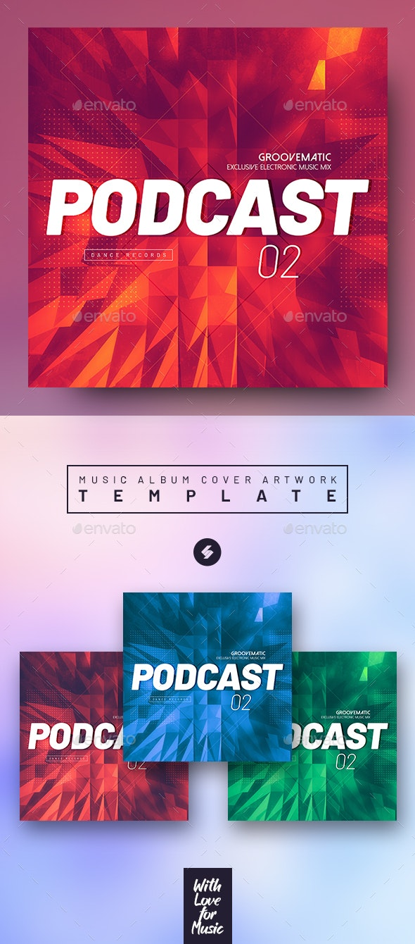 Podcast vol.2 - Music Cover Image Artwork Templates - Miscellaneous Social Media