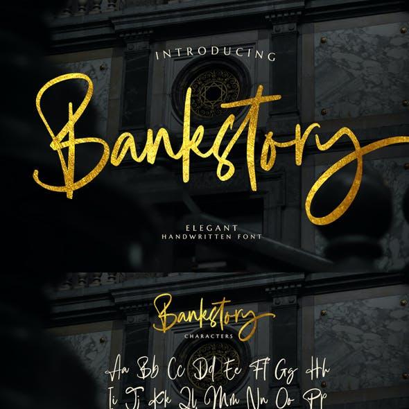 Bankstory - handwritten font