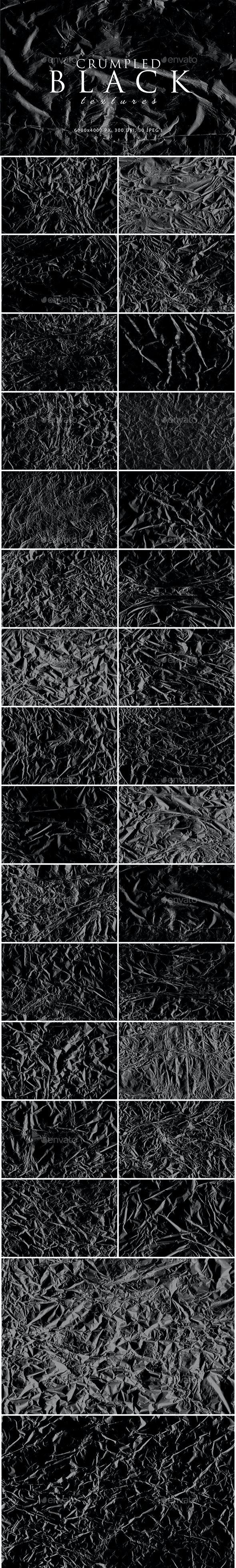Black Crumpled Textures - Miscellaneous Textures