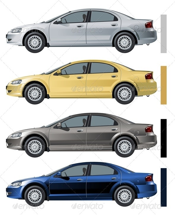 Vector Modern Car - Man-made Objects Objects
