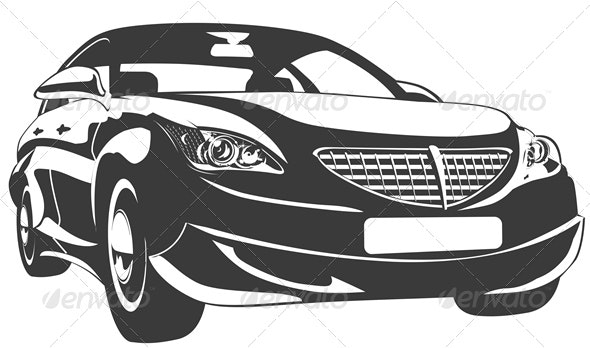 Vector Abstract Modern Car - Man-made Objects Objects