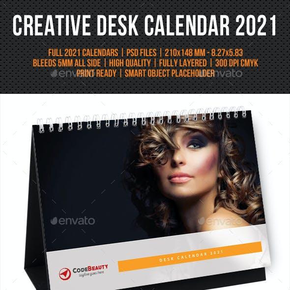 Creative Desk Calendar 2021 V22