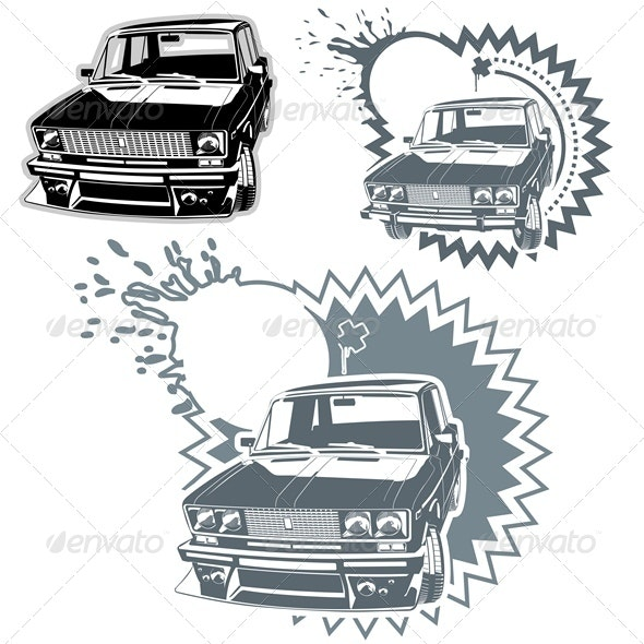 Vector Custom Car Silhouettes Set - Man-made Objects Objects
