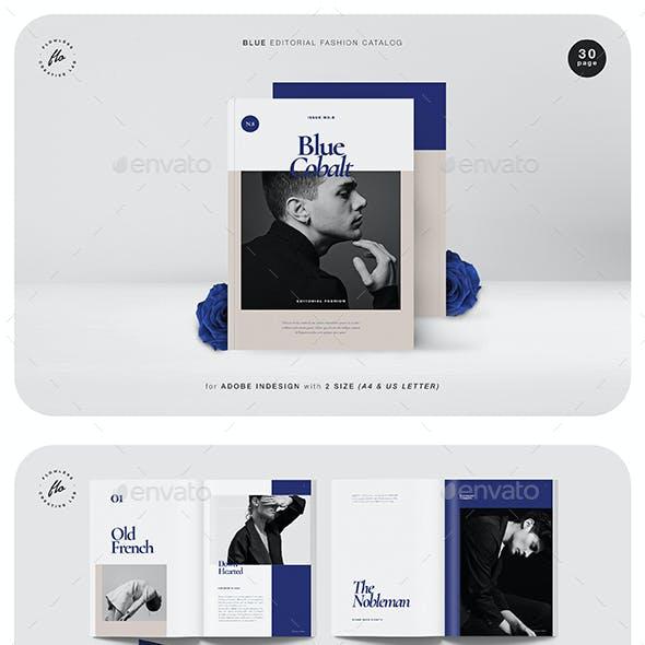 Blue Editorial Fashion Catalog