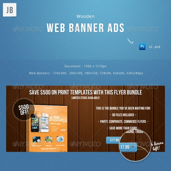 Wooden Web Banner Ads