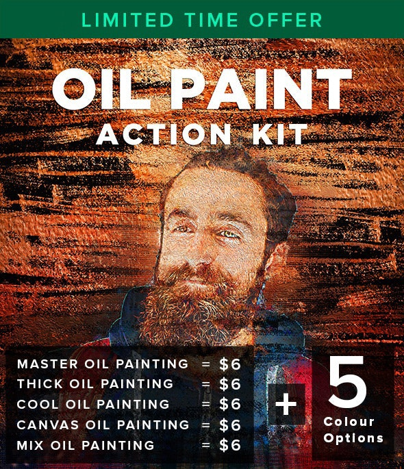 Oil Paint Action Kit - Photo Effects Actions