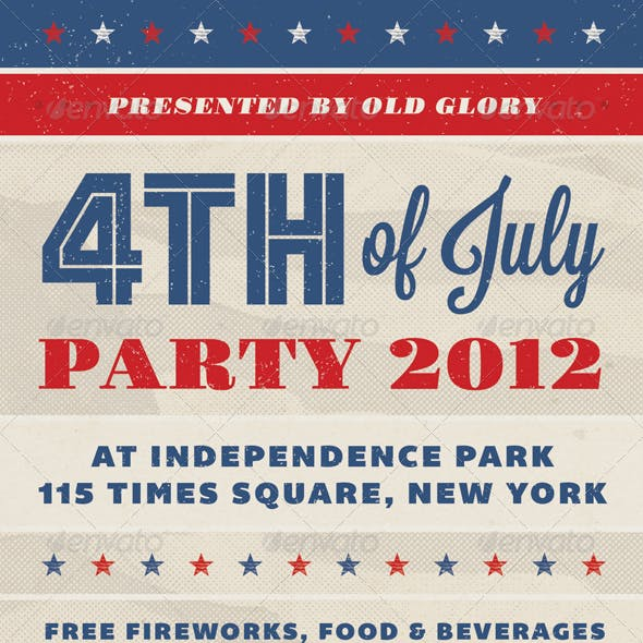 Old Glory - Fourth of July Event Flyer
