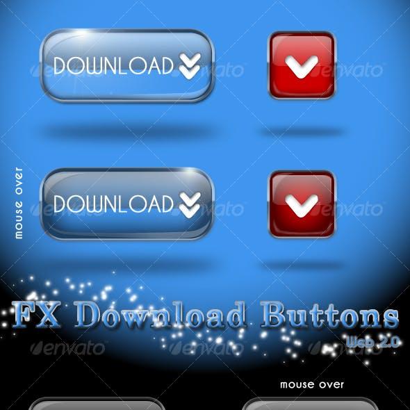 FX BUTTONS web 2.0 (6 Web 2.0 Colors)
