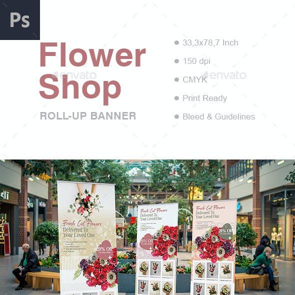 Flower Shop Roll Up Banner