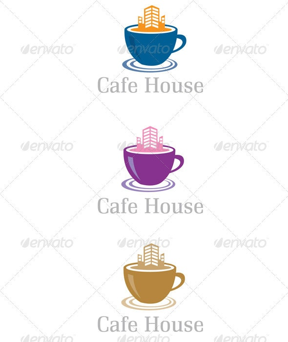 Cafe House - Buildings Logo Templates