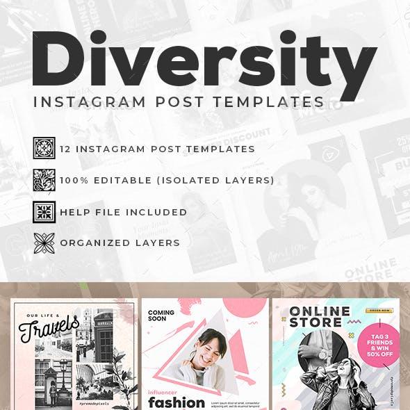 Diversity Instagram Post Templates