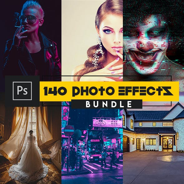 6 IN 1 SupremeTones Photo Effects Actions BUDNLE