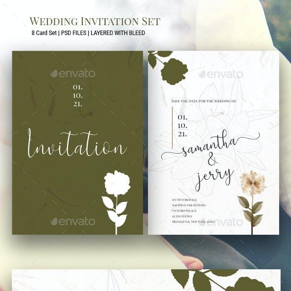 Dry Flower Wedding Invitation