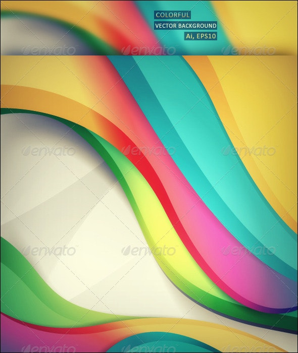 Colorful Vector Background - Backgrounds Decorative