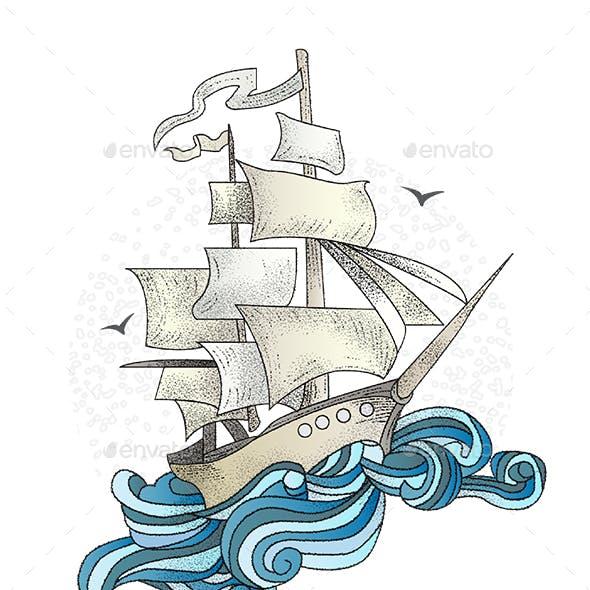 Ship Illustration - Pinisi