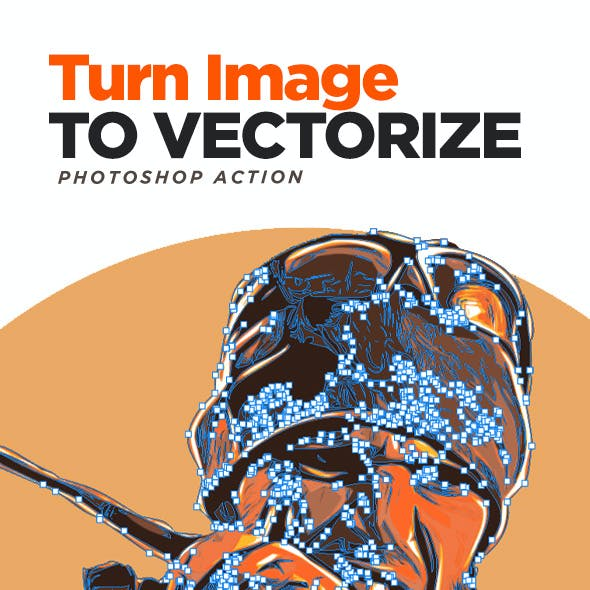 Turn Image to Vectorize With Photoshop Action