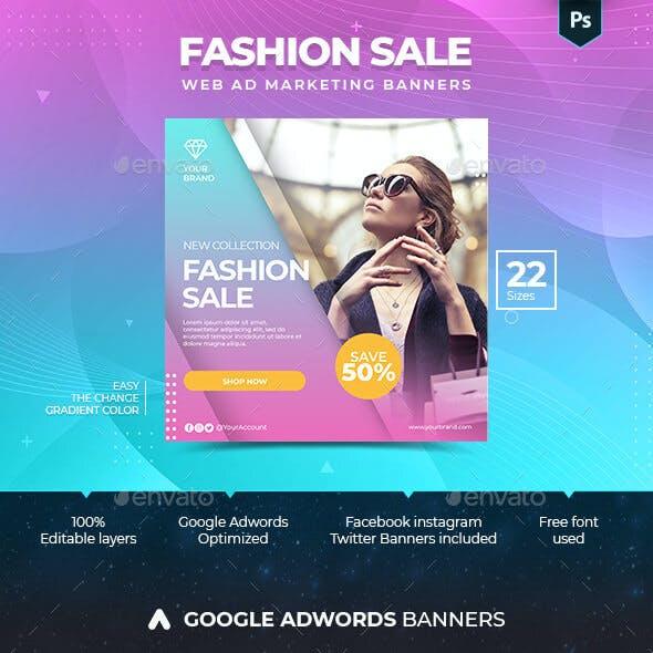 Fashion Sale Marketing Banner Ads