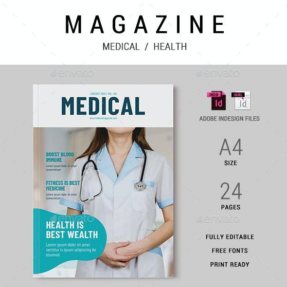 Medical Magazine Template