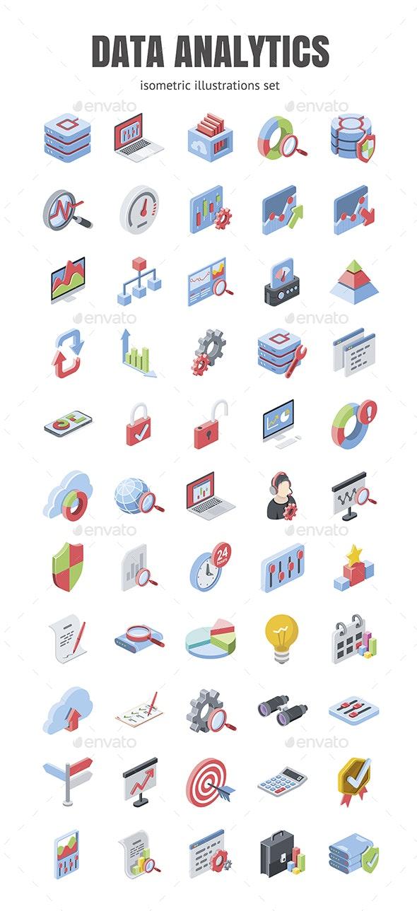 Data analytics set - Technology Icons