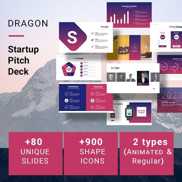 Dragon Startup Pitch Deck Template (PPTX)