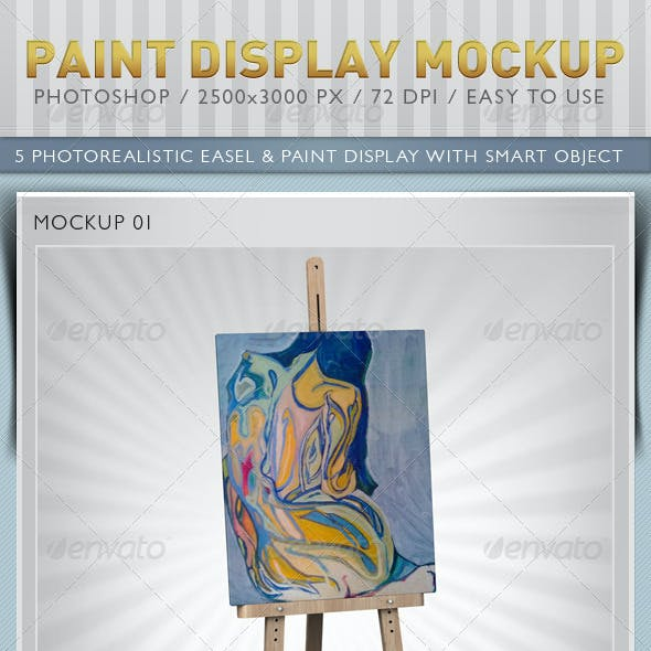 Paint Display Mockup