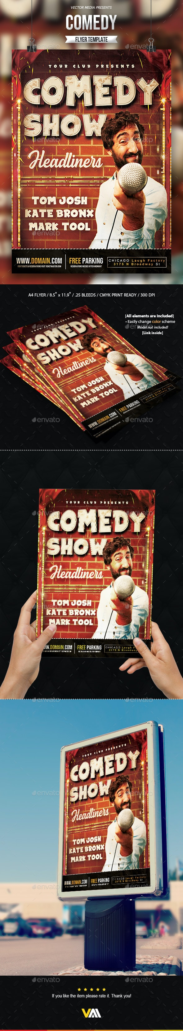Comedy - Flyer - Miscellaneous Events