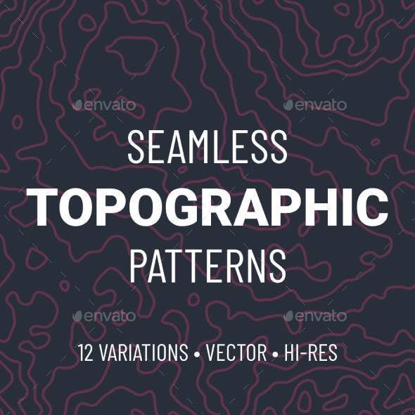 Seamless Topographic Pattern Set