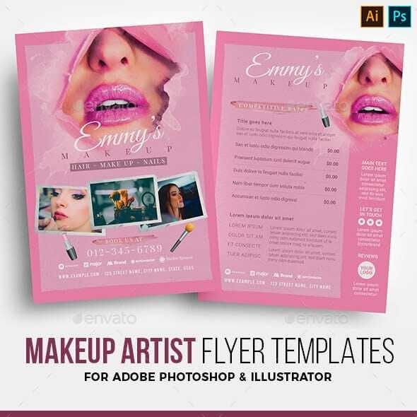 Makeup Artist Flyer Graphics Designs