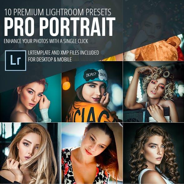 10 Pro Portrait Lightroom Presets (Mobile & Desktop)