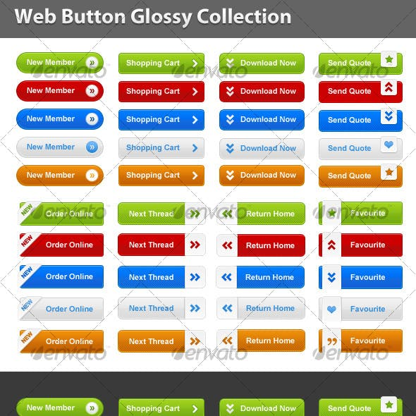 Web Button Glossy Collection