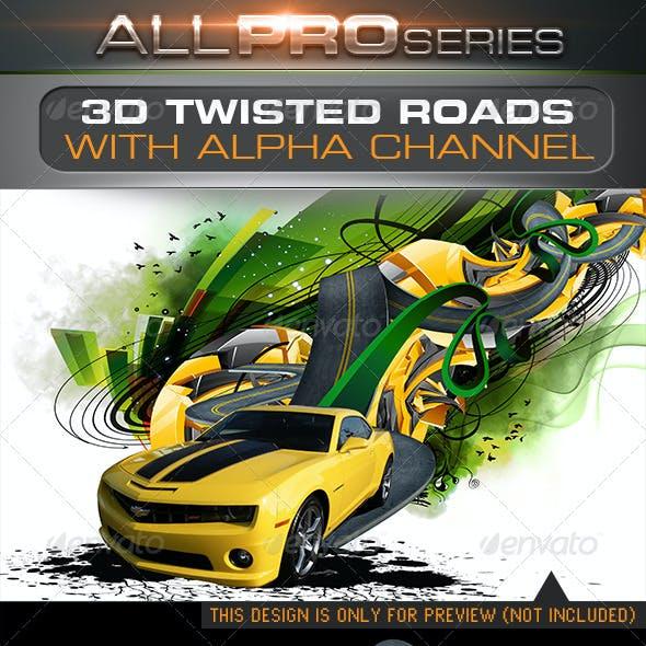 3D Twisted Roads