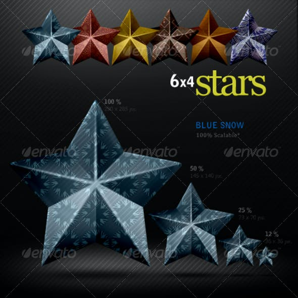 6 Coned Pattern Stars