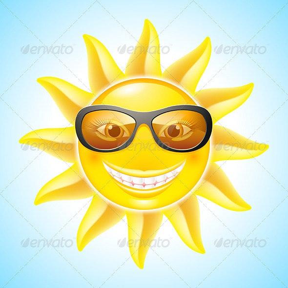Cartoon Sun - Seasons Nature