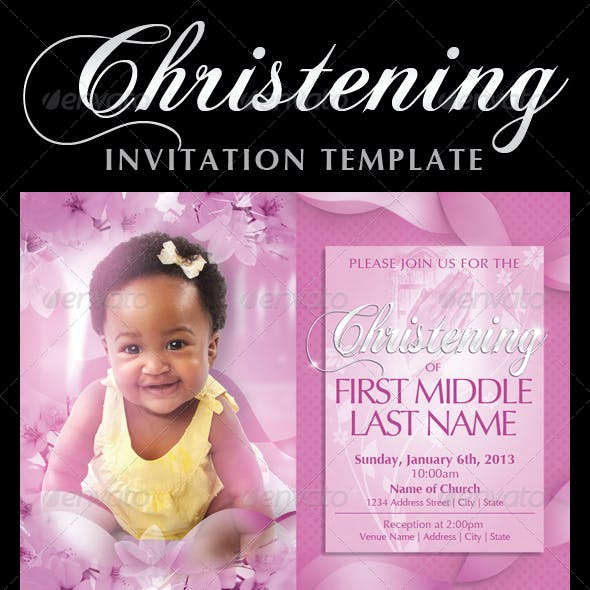 Baby Christening Invitation Templates