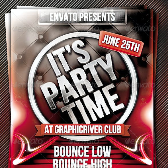 It's Party Time Flyer Template