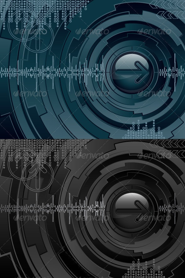 Abstract futuristic background - Abstract Conceptual