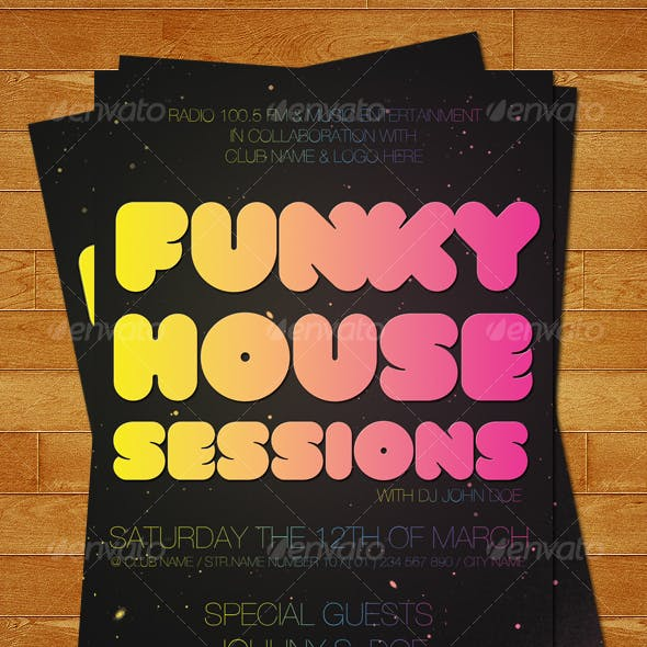 Funky Space Club Posters