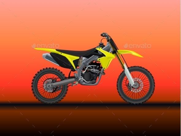 Sport Moto Offroad Technical Model - Man-made Objects Objects